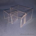 Clear Display Nesting Risers Assorted Depth and Height