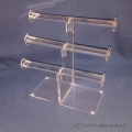 "Assorted Clear Acrylic Display Jewelry Display ""T"" Handle Risers"