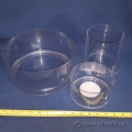 Assorted Clear Acrylic Display Round Dish Style Container
