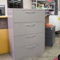 "Steelcase 4 Drawer 36"" Beige Lateral File Cabinet"
