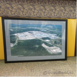 Framed Aerial Photo of Encana Foster Creek SAGD Plant (2005)