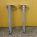 Teknion Brand Grey Metal Height Adjustable Table Legs