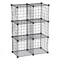 Black Honey-Can-Do Wire Modular Mesh Storage Cube Set