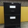 Staples Black 2 Drawer Vertical File Cabinet, Locking