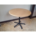 """Blonde 36"""" Round Meeting Conference Table w/ Black Base"""