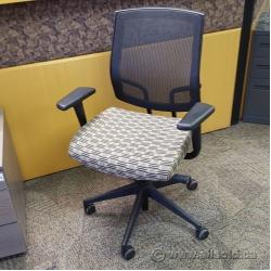 Tan Black Pattern Sit-On-It Seating Focus Task Chair