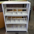 Tennsco White Metal 4 Shelf Bookcase Binder Shelf