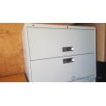 Hon Grey 2 Drawer Lateral File Cabinet, Flip