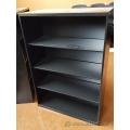 Black Global Metal Book Case with 4 Adjustable Shelves