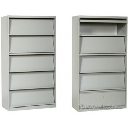 White Lincora Brochure, Pamphlet Display Cabinet w/ Storage