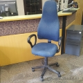 Blue High Back Adjustable Office Chair