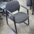 Hon Black Fabric Guest Chair