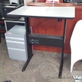 Grey Ergotech Teknion Torsion Sit Stand Height Adjustable Desk