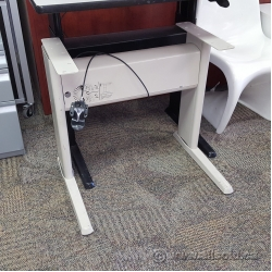 Teknion Torsion Sit Stand Adjustable Ergotron Desk Beige Base