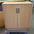 Blonde IKEA Galant 2 Door Storage Cabinet w/ Overhead Option