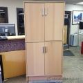 Blonde IKEA Galant 2 Door Over/Under Storage Cabinet