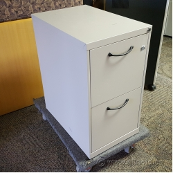 Beige 2 Drawer Locking Pedestal