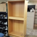 Blonde Double Bookshelf IKEA Bookcase w/ 4 Adjustable Shelves