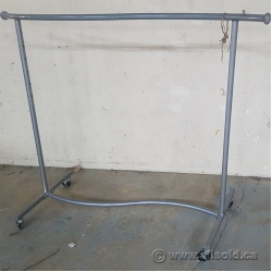 Grey Rolling Garment Clothing Rack
