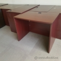 Mahogany Straight Desk Shell 36""