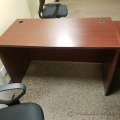 Mahogany Straight Desk Shell 48 inch
