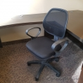 Black Mesh Back Office Task Chair with Fixed Arms