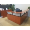 Autumn Maple L Suite Reception Desk with Transaction Counter