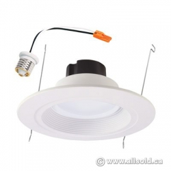 Halo 6-in White Baffle Recessed Lighting Trim