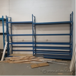 Assorted Commercial Shelving Pallet Racking w/ Vertical Storage