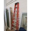 Sturdy Ladder 8 ft. Fiberglass Step Ladder, 300 lb Capacity