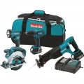 Makita 7 Piece Tool Kit Combo w/ Carry Case and Charger