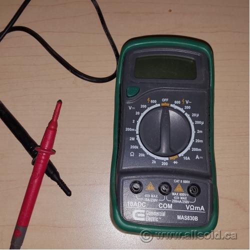 commercial electric mas830b digital multimeter allsold ca buy rh allsold ca Commercial Electric Mas830b Battery commercial electric digital multimeter mas830b user manual