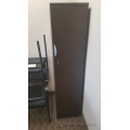 Espresso Narrow Profile Storage Cabinet w Wardrobe, Locking