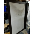 Espresso Wood Frame Magnetic Whiteboard w/ Marker Tray