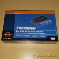 Linksys Print Server 4 Port Workgroup Switch PSUS4