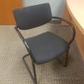 Black Fabric Keilhauer Sleigh Guest Chair