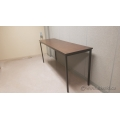 "Metal Frame Wood Surface Work Table Lunch Room Table 72"" x 16"""