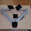 SpaceArm Sit Stand Adjustable Dual Monitor Wall Mount Arm