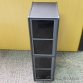Silver Small Storage Stand w/ Retractable Drawers and CD Sleeves