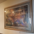 "Wall Art Framed Abstract Picture 43"" x 34"""