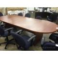 Autumn Maple 9ft Racetrack Boardroom Table