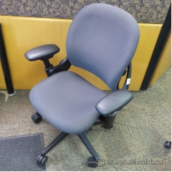 Steelcase Leap Charcoal Adjustable Ergonomic Task Chair w Arms