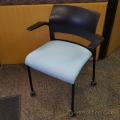 Blue Rolling Steelcase Move Training Guest Chair