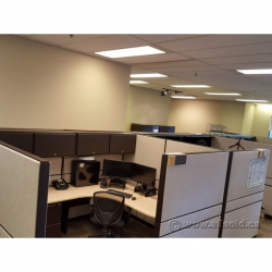 Teknion Systems Tan Cubicle Wall Panel Divider
