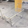 Steel Rolling Product Cart Shipping Trolley w/ Castors