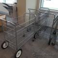 Metal Rolling Mail File Cart Steel Aluminum