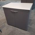 30 in Grey Steelcase 2 Door Locking Storage Cabinet