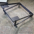 Black Rolling Steelcase Stacking Chair Storage Trolley Cart