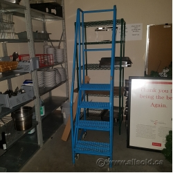 4 Tier Rolling Step Safety Ladder