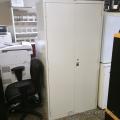 Beige 2 Door Garage Storage Cabinet Locking